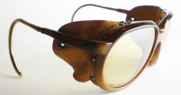 Vintage Ray Ban Aviator Sunglasses Leather Side Shield