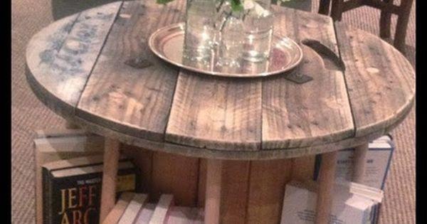 transformer une bobine de c ble en table basse table basse originale cable electrique et vielle. Black Bedroom Furniture Sets. Home Design Ideas