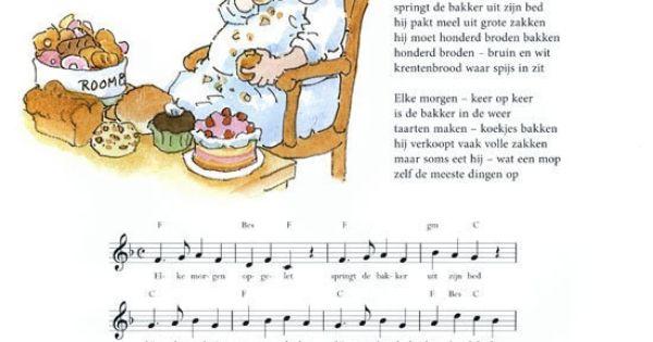 Liedje bakker knutselen pinterest school and language for Bakker in de buurt