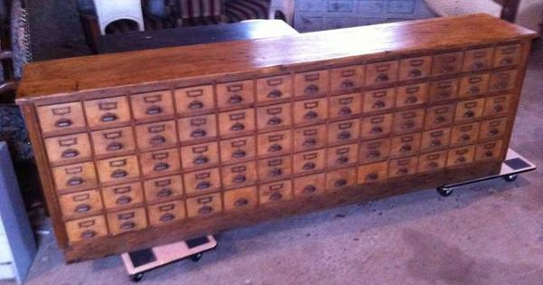 Ancien meuble de metier a 65 tiroirs quincaillerie for Meuble quincaillerie tiroirs