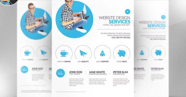 Minimal Web Design Flyer Template – Web Flyer