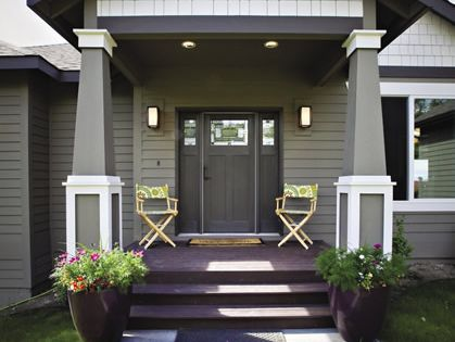Exterior Paint Anonymous With Urbane Bronze And Shoji