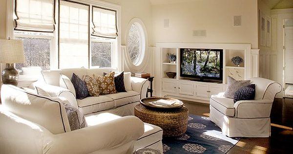 Cream Navy Blue Nautical Themed Living Room Living Dining Room Pinterest Home Cream
