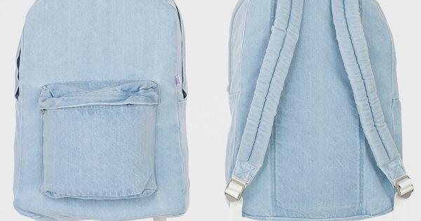 American Apparel - Denim School Bag AMERICANAPPAREL PINATRIPWITHAA