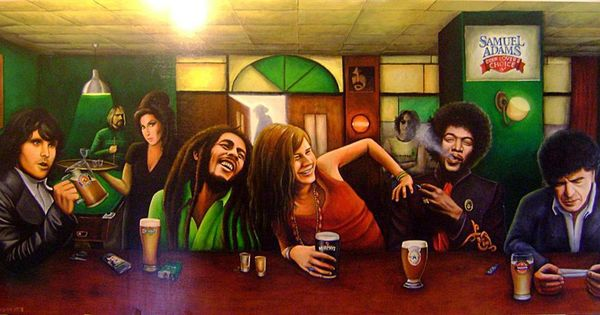 Last supper of music artist. Meir Ariel, Jimi Hendrix, Janis Joplin ,