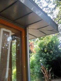Flat Zinc Roof Overhang Google Search Zinc Roof Flat Roof Extension Zinc Cladding