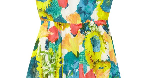 Alice + Olivia Alissa floral-print dress fashion style