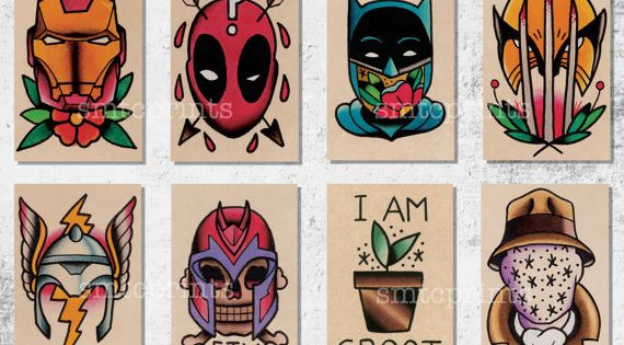 Brian Hemming prints! I want the deadpool and wolverine tattooed!