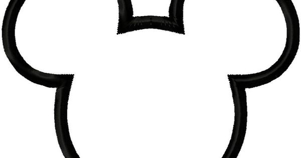 Mickey Mouse Head Outline Maybe Do As A Stencil And Paint In A Light Blue White Color Randomly