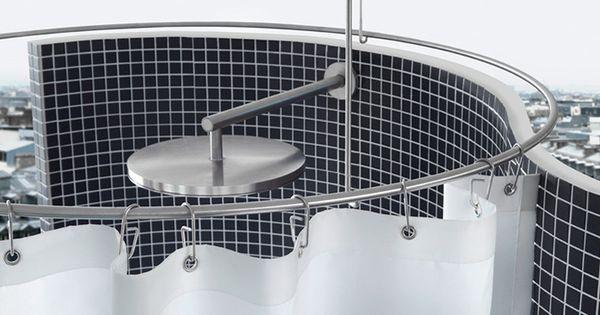 rounded shower curtain bar dr 900 duschstange duschring edelstahl feathering the nest. Black Bedroom Furniture Sets. Home Design Ideas