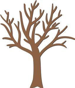 Use This Bare Tree To Print And Color According To What You Are Agac Cicek Cocuklar Icin Sanat