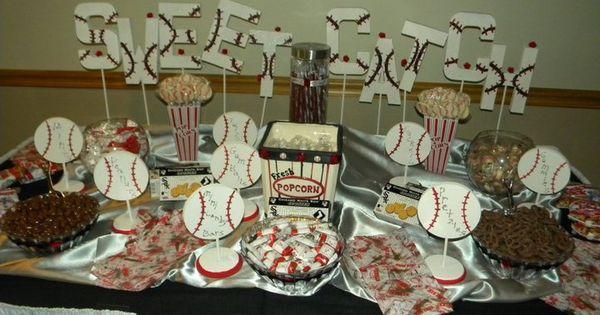 Baseball Theme Candy Table Bar Mitzvah Pinterest