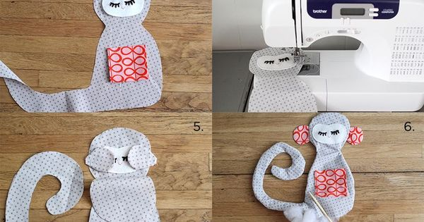 Plush Monkey Tutorial With Printable Pattern Sewing