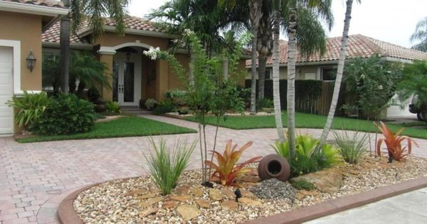 Low maintenance front yard landscaping front garden for Low maintenance tropical garden