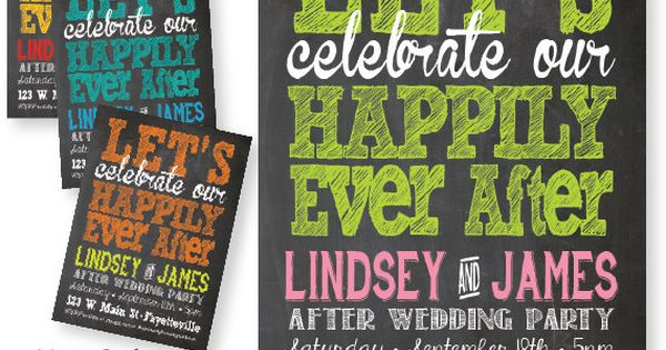 After The Wedding Party Invitations: After Wedding Party Invitation. Let's Celebrate Our