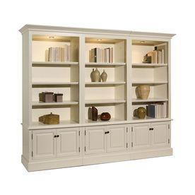 A E Wood Design French Restoration Pearl White Wood 12 Shelf Bookcase 700dw Home Home Furnishings Wood Design