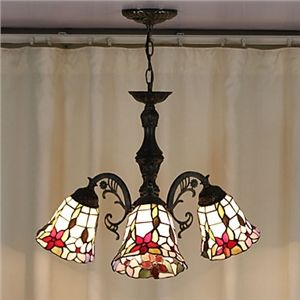 60w Antique Tiffany Style Chandelier With 3 Lights With Images