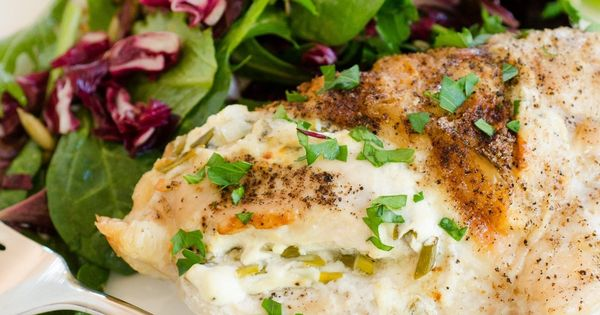 Roasted Chicken Breasts Stuffed with Goat Cheese & Garlic | Recipe ...