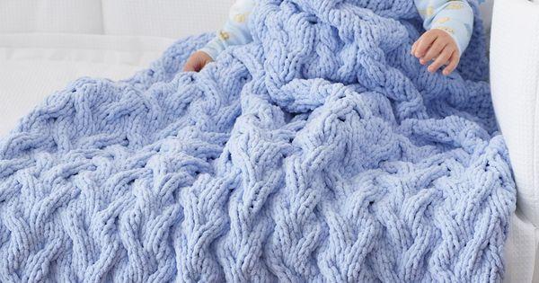 Yarnspirations Com Bernat Shadow Cable Baby Blanket