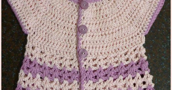 Round Yoke Baby Crochet Cardigan By Soledad - Free Crochet ...