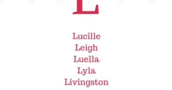 27+ Unique unisex names starting with l information