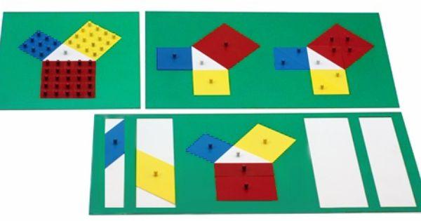 Montessori Materials Theorem Of Pythagoras Montessori Materials