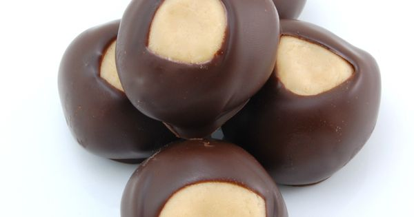 Chocolate Peanut Butter Buckeye-- The Ultimate Christmas candy recipe.