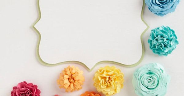 Tutorial on 3 types of paper flowers - LOVE the colors, too!