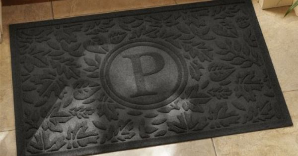 Monogrammed Water Trapper Doormat Charcoal By Orvis 59 00 Our Signature Water Trapper Mat Can Now Be Your Signatur Kitchen Area Rugs Kitchen Runner Home Kitchens