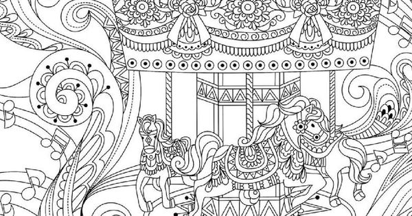 coloring pages of carousel zebra - photo#18