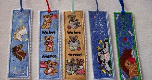 Free Standing In The Hoop Bookmarks Machine Embroidery