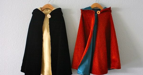reversible hooded capes tutorial - from the book Growing Up Sew Liberated.