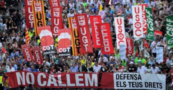 Anti Austerity Demonstration In Barcelona During A Day Of Protests Throughout Spain July 19