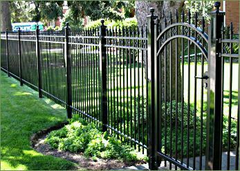 Pin By Tsquare On Haus Favs Iron Fence Panels Front Yard Fence
