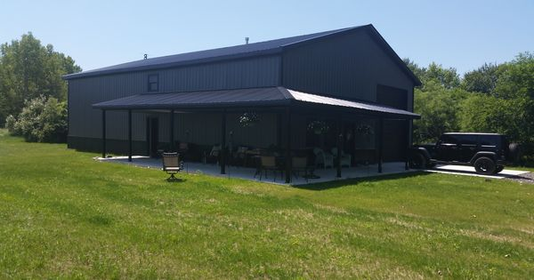 A post frame residence in middlebury indiana built by for Pole barns indiana