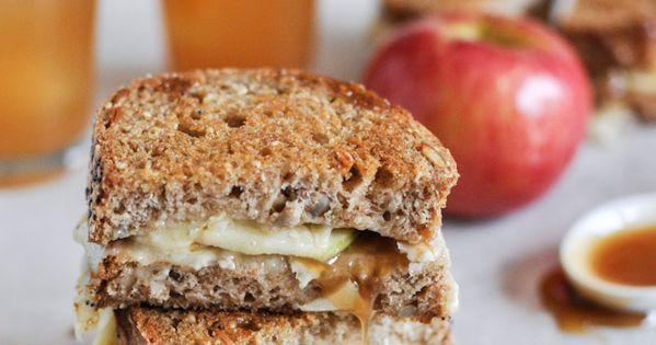 Caramel Apple Grilled Cheese recipe by How Sweet It Is