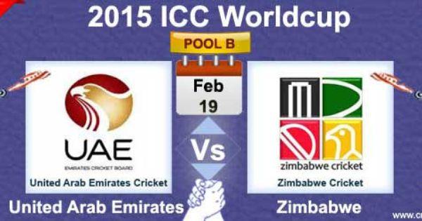 Uae Vs Zim Match8 World Cricket Uae