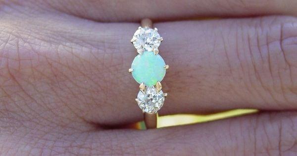 Vintage antique opal ring