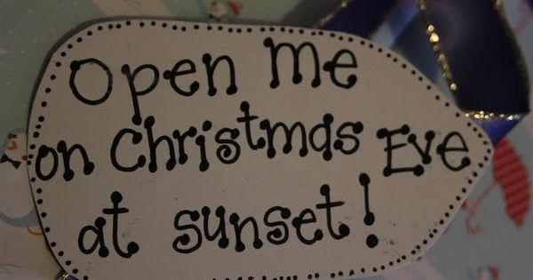 Love this idea! Christmas Eve Surprise Box. Include: new pajamas, Christmas movie,