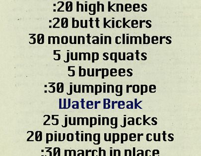 Cardio workout challenge! A great home workout for days when you can't