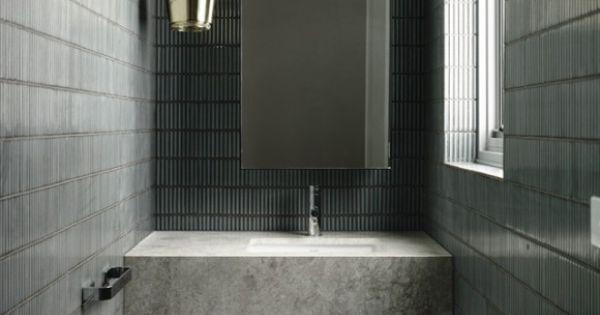 Reforma ba o encimera de m rmol con lavabo integrado for Suelo marmol gris