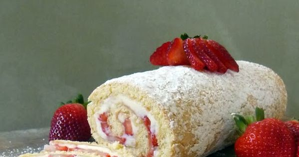 Strawberry Jelly Roll Cake Recipe | Cakes, Gluten free ...