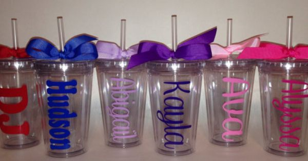 Kids Size 12 Oz Personalized Acrylic Tumbler Cup With Lid