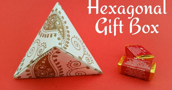 How to make a paper hexagonal gift box wrap useful for Useful gifts to make