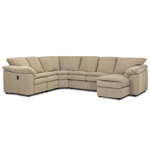 Klaussner Legacy Dual Reclining Left Arm Loveseat Sleeper And Right Arm Chaise Sectional Sheely Sectional Sofa With Recliner Large Sectional Sofa Sofa Store