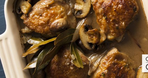 Chicken with mushrooms, Baked chicken and White wines on Pinterest