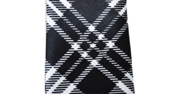 Classic Professional Black and White Pattern Skinny by TiestheKnot, $8.99
