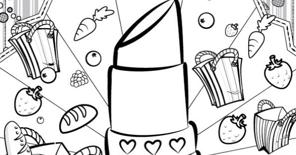 Shopkins colour color page lippy lips shopkinsworld for Lipstick shopkins coloring page