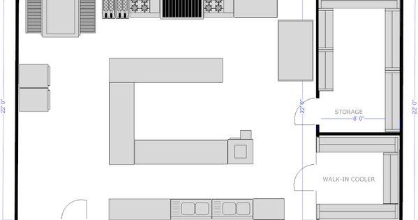 Design Your Own Restaurant Floor Plan: Appealing Restaurant Kitchen Plan Using Free Kitchen