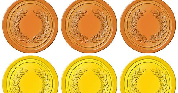 graphic regarding Printable Medals identified as Olympic Gold Medal Printable Offers of the Working day